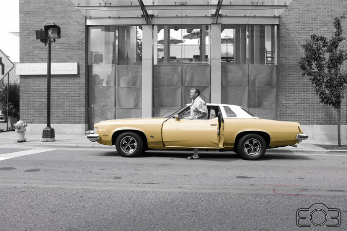 1976 Oldsmobile Cutlass Supreme Automobile Car City City Life Cute Cutlass Door Mode Of Transport Oldsmobile Open Parked Person Road Street Streetphotography Transportation Yellow