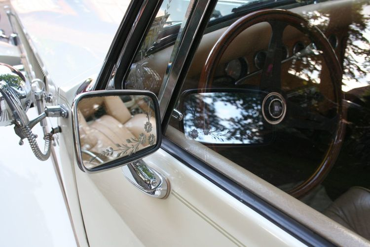 Car Chrome Mirrow Mirrowefect No People Oldtimer Reflection Transportation