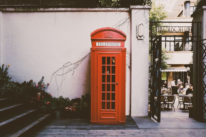 Communication Telephone Booth Telephone Pay Phone Text Connection Building Exterior Built Structure