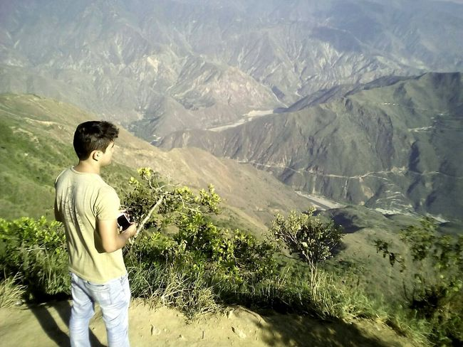 My Favorite Place Travel Destinations Traveling Mountain Tranquility Tranquil Scene Day Road Young Adult Canon Colombia ♥  Chicamocha Canyon Santander-Colombia