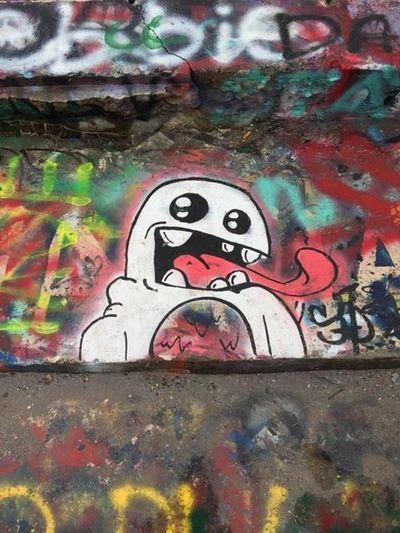 Ghost graffiti Ghost Graffiti White Spraypaint Spraypaint Art Colors Colorful Bright Vibrant Graffiti Park