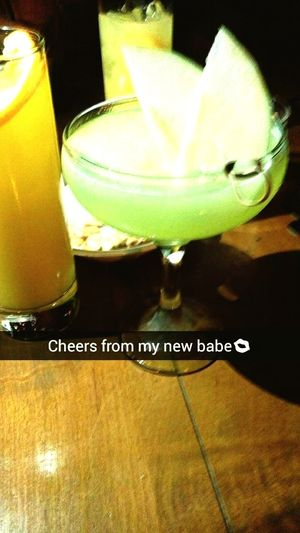 Hi! Drinking Cocktails Say Hello To  My Apple Martini 👋 Great Atmosphere Celebrating Enjoying Life
