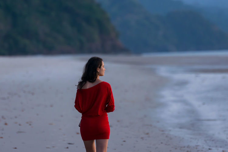 Diana Check This Out Dress EyeEm Best Shots EyeEm Selects Fashion Red Woman Beach Beautiful Woman Landscapes Outdoors Water Woman Portrait