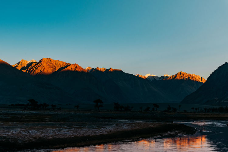 India Ladakh Landscape_Collection Planet Earth Ankitban Beauty In Nature Clear Sky Day Landscape Leh Mountain Mountain Range Nature No People Outdoors Scenics Sky Tranquil Scene Tranquility Wallpaper Water EyeEmNewHere