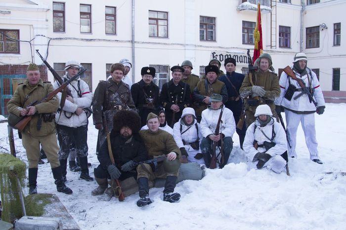 реконструкция в ЧВВАКУШ 23 февраля 2016 история оружие солдат советский СССР Немецкий