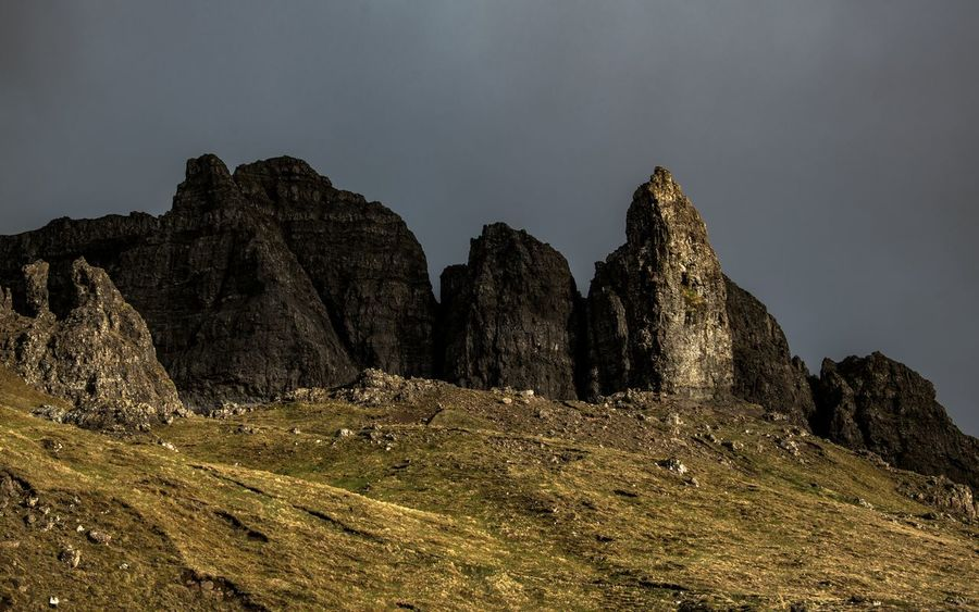 Scotland The Great Outdoors - 2018 EyeEm Awards The Old Man Of Storr Environment Formation Landscape Mountain Mountain Peak Mountain Range Nature Outdoors Rock Rock - Object Scenics - Nature