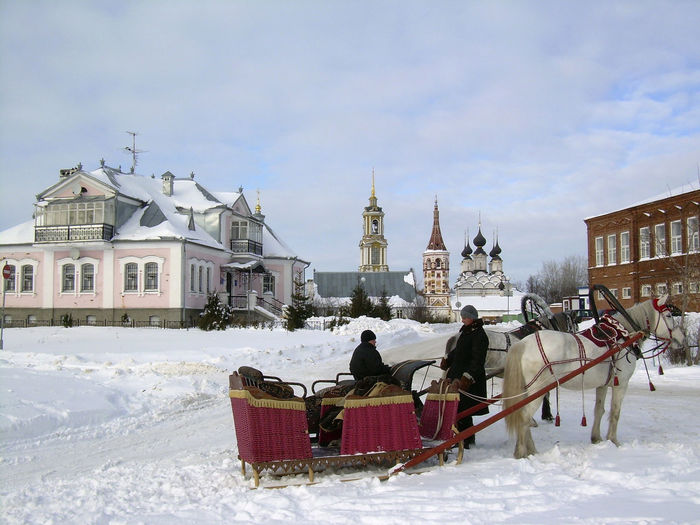 Church Russia Adult Architecture Building Building Exterior Built Structure Clothing Cold Temperature Day Group Of People Men Nature Outdoors People Real People Sky Snow Transportation Warm Clothing Winter Women