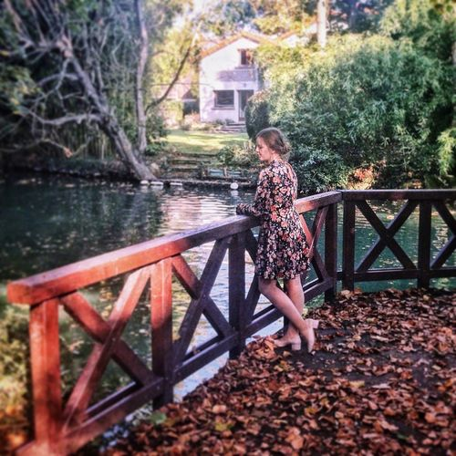 Tree Full Length One Person Outdoors Built Structure Building Exterior Architecture Day Autumn Real People Lifestyles Nature Standing Childhood Water Beauty In Nature People Adult Lost In The Landscape Be. Ready. Fashion Stories
