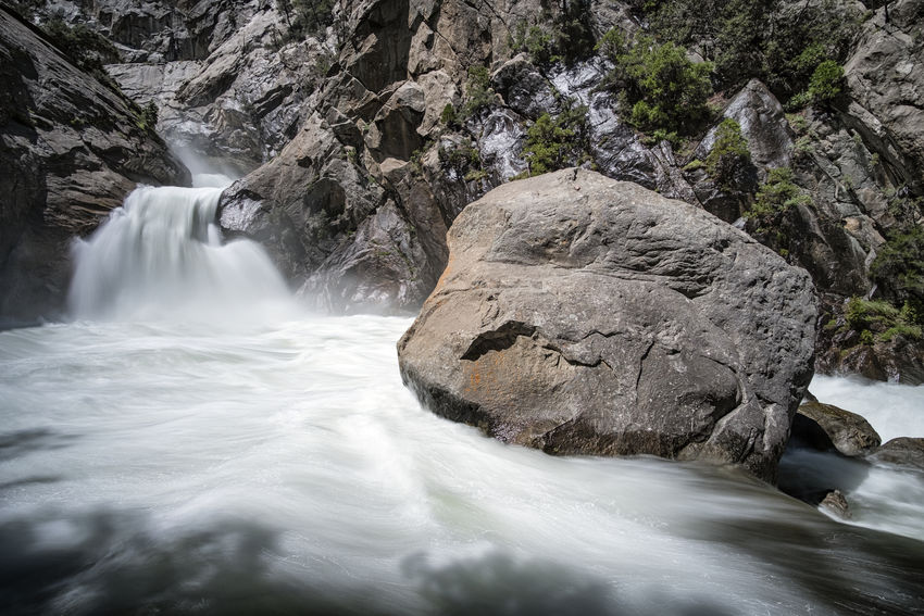 Kings Canyon, California. Waterfall Water Scenics Rock - Object River Rapid Power In Nature Outdoors No People Nature Motion Day Beauty In Nature Beauty Tree Tranquility