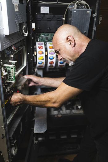 Man working at work shop