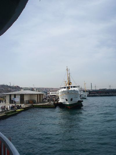 Sky Transportation Business Finance And Industry Sea Water Bridge - Man Made Structure Tall Ship Outdoors No People Scenics Nature Day Beauty In Nature 3XPSUnity 3XSPhotographyUnity Eminönü/ İstanbul Türkiye