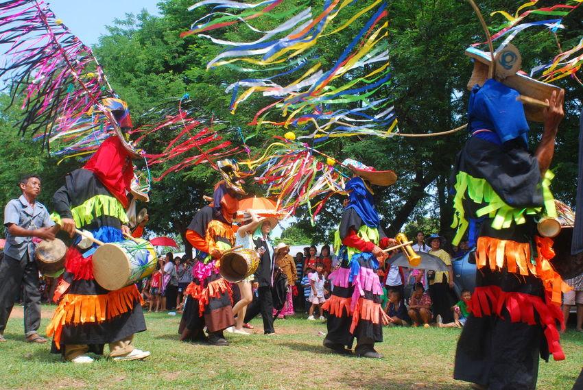 ผีขนน้ำ เมืองเลย Cable Close Up Colorful Cultures Day Enjoyment Friendship Full Frame Fun Hanging Large Group Of People Loei,thailand Low Angle View Multi Colored Rope Technology Togetherness Tradition Women Working