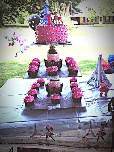 1st Birthday Celebration My Baby Girl😇 Paris Theme Mommy Made The Cake And Stand