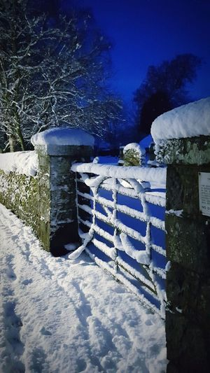 Kirkyard gate. Snow Scotland Shades Of Winter Tweeddale Scottish Borders Innerleithen Winter Gate Kirkyard Graveyard Cemetery Wall Outdoors No People