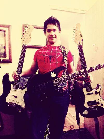 Guitar Guitarmaniatic Music Taking Photos Spiderman Handsome