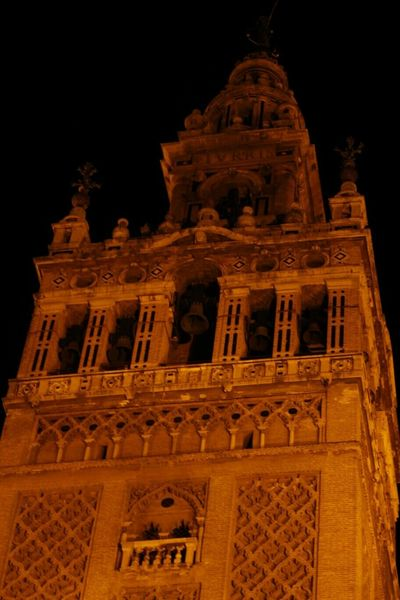 Architecture Built Structure Travel Destinations Building Exterior Façade No People Low Angle View Tower History City Night Spain ✈️🇪🇸 Seville Famous Place Giralda