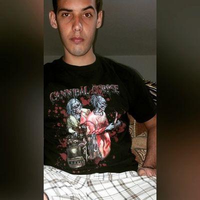 Cannibal Corpse banda que me inicio en el death metal con sus grandes albunes Eaten Back To Life, butchered at birth, tomb of the mutilated y evisceration plague lml CannibalCorpse Deathmetal Selfie Brutaldeathmetal Slammingbrutaldeathmetal Grindcore Goregrind
