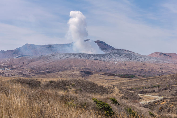 Geology Landscape Mountain Scenics - Nature Environment Beauty In Nature Non-urban Scene Physical Geography Sky Land Erupting Volcano Smoke - Physical Structure Power In Nature Day Nature No People Tranquil Scene Power Travel Outdoors Volcanic Crater