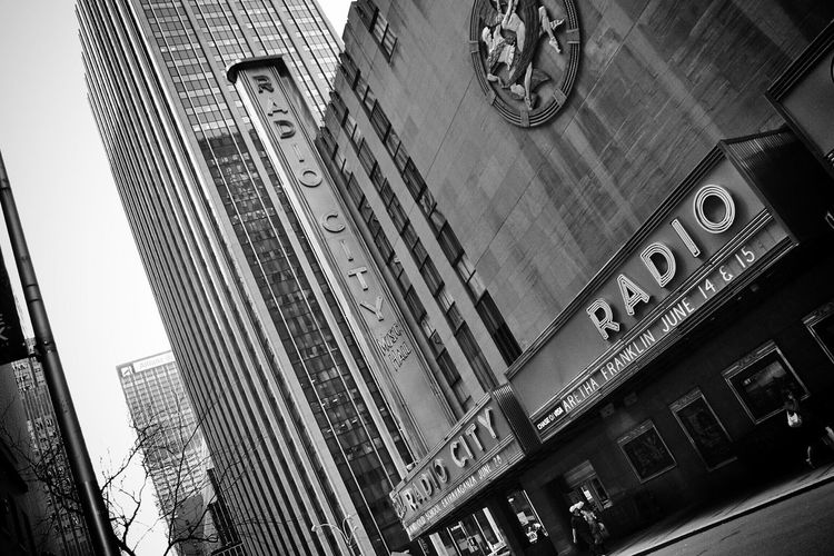 Radio City Music Hall NYC Streetphotography Black And White Architecture
