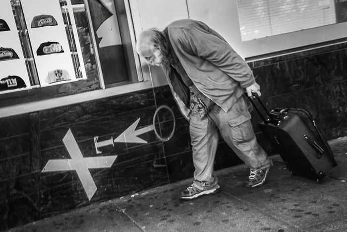 Times Square, NYC | 2014 Streetphotography Streetphoto_bw Streetbw TimesSquare NYC Photography Bautistany The Human Condition RePicture Ageing