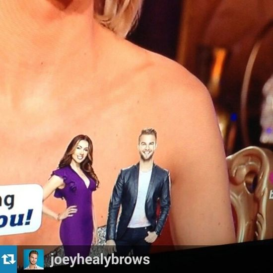 Repost from @joeyhealybrows with @repostapp Pressplay ! Maybe it's the pinot kicking in but while watching the RHONY reunion I think I just saw a leprechaun sized Joey appear at the bottom of my screen! TheSinglesProject BravoTV @bravoandy @bravotv