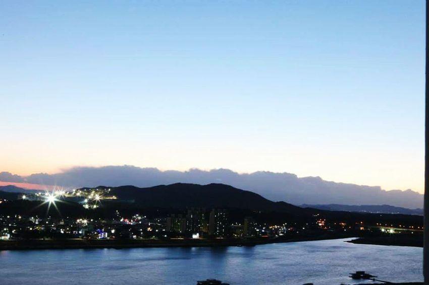 여주 남한강 일몰