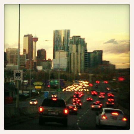 My favourite view of Calgary Traffic Pqc