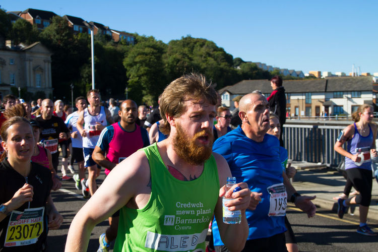 Decided to try some sport photography during the Cardiff Half Marathon 2016 Athletics Barage Bay Exausted Half Marathon Jogging Long Distance  Marathon People Road Road Running Running Sport Sunny Day