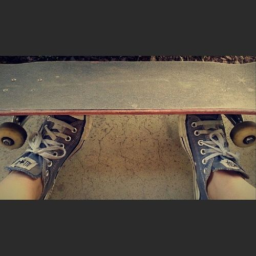 Out and about, again...✌Repost Skateandlive Skateordie Chucks iwantalongboard