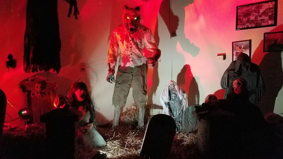 Halloween at Jellystone Park - Elmer, NJ begins! Indoors  Illuminated Decoration Red Stage - Performance Space Nightlife Halloween