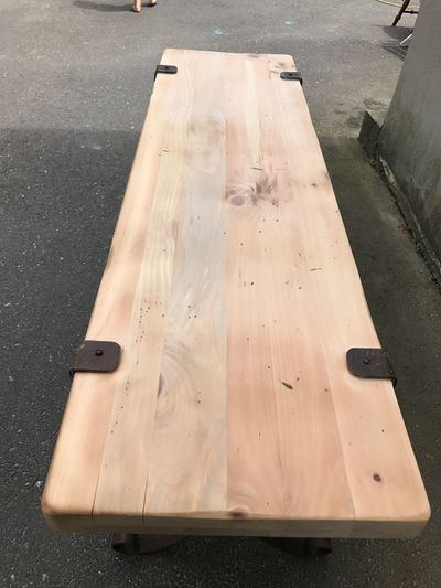 Raw table wood