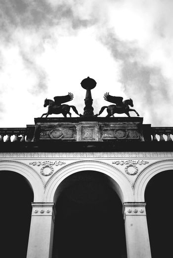 Pegasus. Architecture Sky Building Exterior Blackandwhite Black And White Photography Black And White Collection  Potsdam City Photography Streetphotography Outdoors Black And White Collection