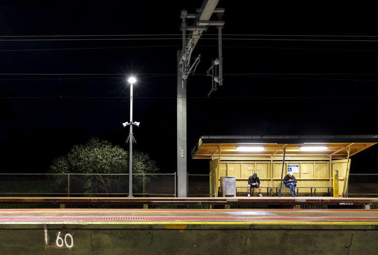 Illuminated Light Lighting Equipment Mode Of Transportation Night People Real People Transportation