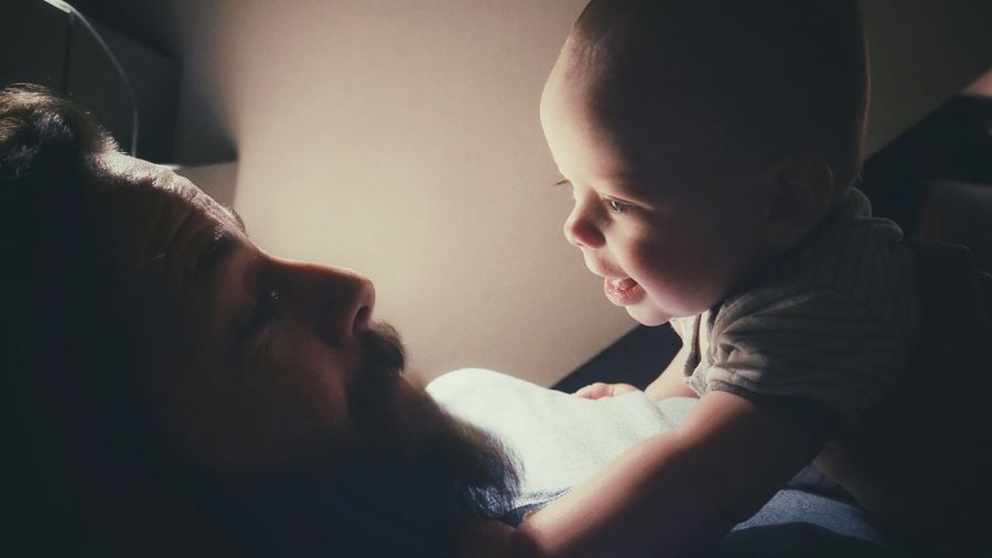 Two People Togetherness Baby Lifestyles Real People Fatherhood Moments Father And Son Happiness Happy Parent And Child