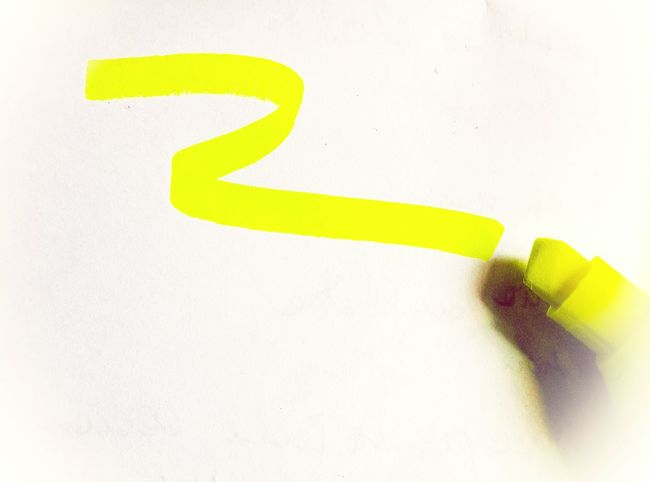Yellow Giallo Fluorescent Fluo  Highliter Ink No People Smartphonephotography Indoors