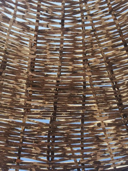 Outdoor Parasol Sun Umbrella Umbrella Summertime Natural Textured  Summer Nobody Background Wood Wooden Season  Seaside Sunshade Sunshades Straw
