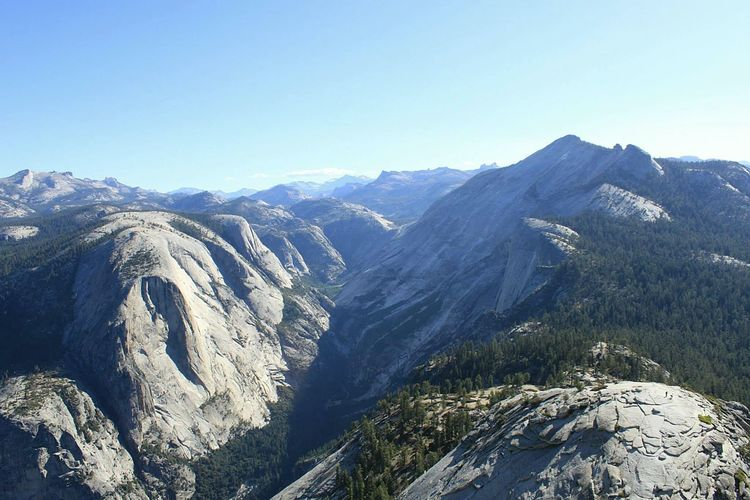 Near the beginning of our accent to the peak of Half Dome in Yosemite National Park. First Eyeem Photo Yosemite National Park Landscape_photography Best Seat In The House On Top Of The World Mountains EyeEm Nature Lover Nature Mountain View Tranquil Scene Majestic Majestic Nature Landscapes With WhiteWall Miles Away The Great Outdoors - 2017 EyeEm Awards