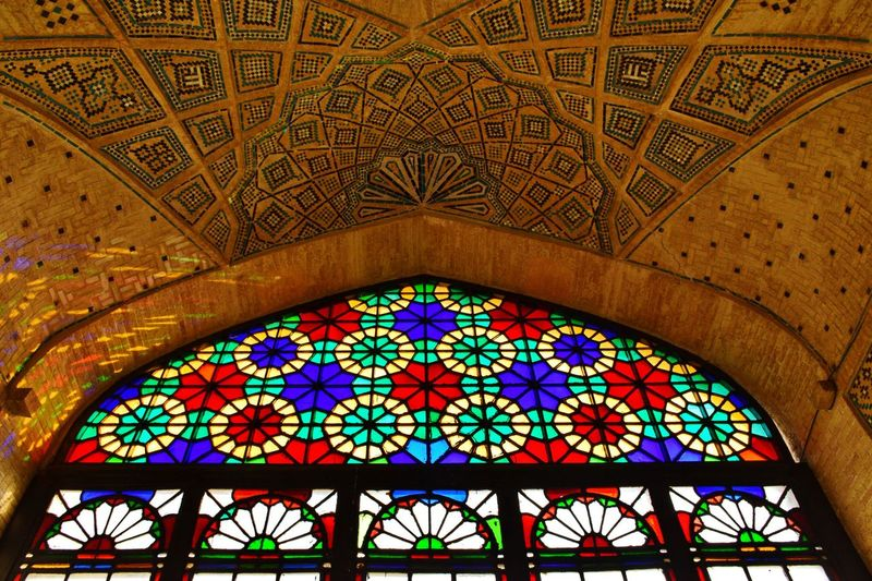 Glass Art in Ancient Iranian building in Shiraz🍷 . Travel Photography Light And Shadow Architecture Check This Out Colorful Hello World
