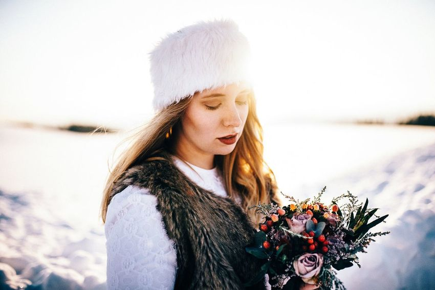 - Sharleen - Winter Warm Clothing Young Women One Person Cold Temperature Long Hair Snow Knit Hat Lifestyles Beauty In Nature Beauty Nature Beautiful Woman Women Outdoors Portrait Real People Scarf Flowers Winter Portrait Of A Woman Bridal Beautiful EyeEm Best Shots Uniqueness