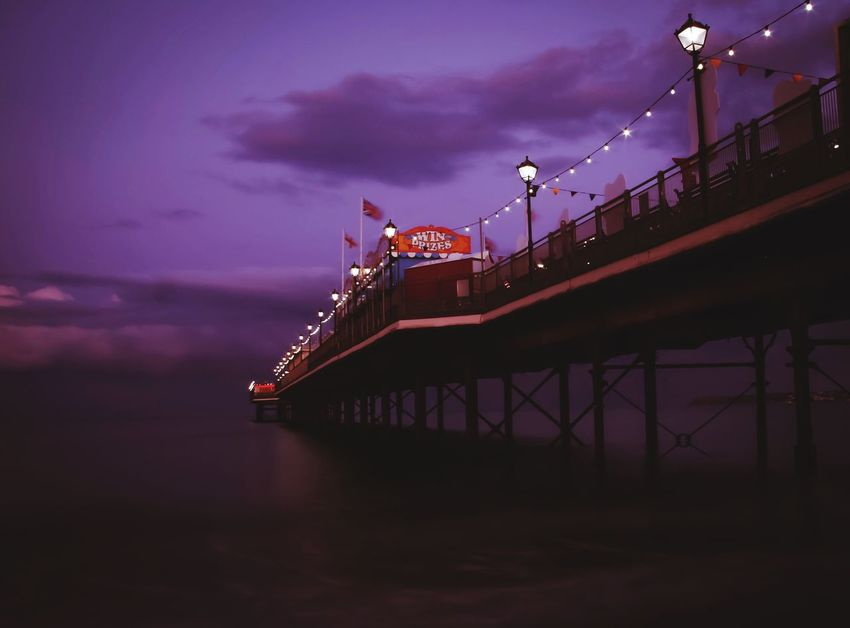 Purple pier! (Testing out the new tripod, no more balancing my camera on my knee and trying to hold my breath for a 30 sec exposure!) Transportation Bridge - Man Made Structure Connection Night Sky Built Structure Architecture Cloud - Sky Dusk Illuminated Outdoors Water River Bridge Nautical Vessel No People Building Exterior Nature Paignton Paignton Beach Paignton Pier Purple Art Is Everywhere Break The Mold EyeEmNewHere The Architect - 2017 EyeEm Awards Neighborhood Map