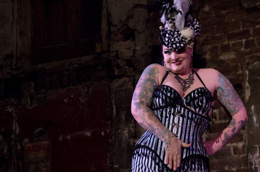 Final Variete of 2016 at the Panopticon. Burlesque Cabaret Core Corset Costume Feather Boa Feminine  Glasgow  People Performance Portrait Scotland Stripes Pattern Tease Woman