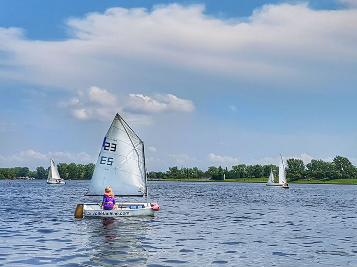 Water Sea People Day Nautical Vessel Outdoors Aquatic Sport Lachine Blue Sailboat Sky Beach Men Sailing Nature Young Adult