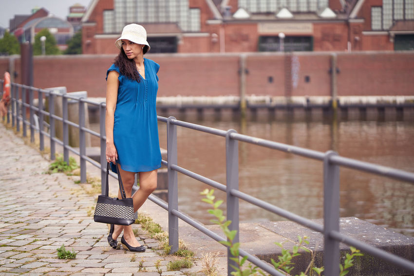 On a great summer day, I shoot these Pictures from the Model Fernanda. She come from Venezuela and her smiling is amazing City Hamburg Lifestyle Standing Adult Women Beautiful Woman Blue Skirt Brown Hair Casual Clothing Happyness Holding A Bag One Person Outdoors Real People Strow Hut Summer Sundress Town Canal Urban Urban Skyline Water Canal Waterfront Women Young Adult Young People