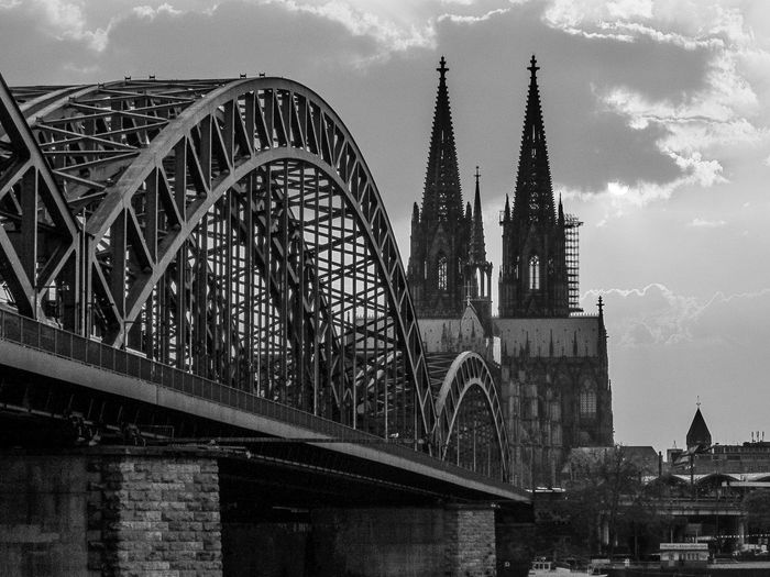 Sunset in Cologne , a little of this wonderful City. Architecture Architecture Bridge Building Exterior Built Structure Cathedral Church Clouds Cologne Cologne , Köln,  Köln Köln, Germany Kölner Dom Landscape No People Outdoors Rays Reflection Rheno River Shining Sky Sunset Sunshine Tower
