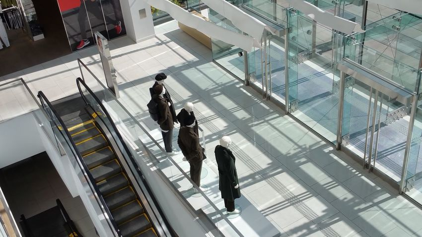Shopping Center Architecture Built Structure Lifestyles Person Indoors Group Of People Large Group Of People Business Leisure Activity Escalator City Shopping Mall Flooring Modern City Life Travel Commuter