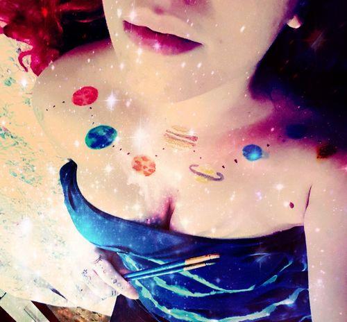 Galaxy Fantasy Art Human Body Part Planets Mars Saturn Planets Venus And Saturn Space Art Art