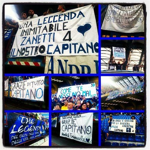 Inter Fcinterofficial Fcinternazionale Zanettijavier javier zanetti addio addioalcalcio football seriea instagram insta2014 instapic zanettiday jz4 4ever zanetti4ever 4 argentina pupi