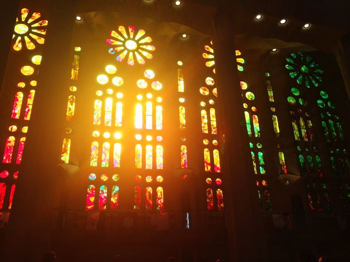 Window Indoors  Illuminated Low Angle View Spirituality No People Built Structure Architecture Day Close-up Church LaSagradaFamilia EyeEmNewHere