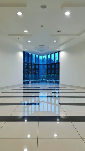 Reflections Wall Architecture Glass Windows Lights Interior Design Empty Indoors  No People Architecture Day