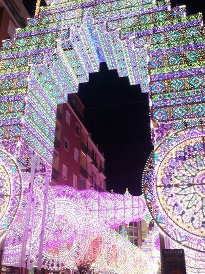 All The Neon Lights Neonlights Neon Neon Lights Decorated Street Fallas Lights Decorations Valencia, Spain Neonlight Street Photography